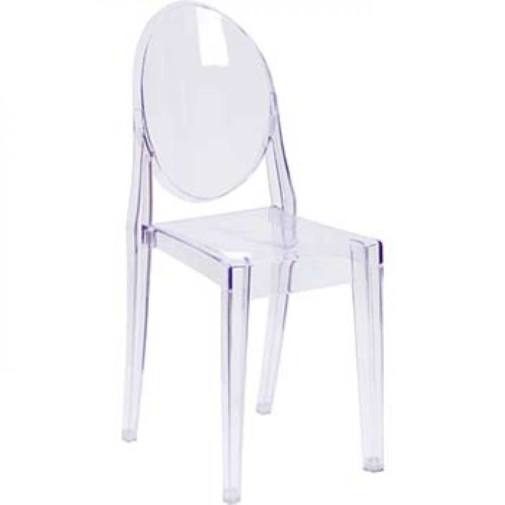 Clear Armless Ghost Chair