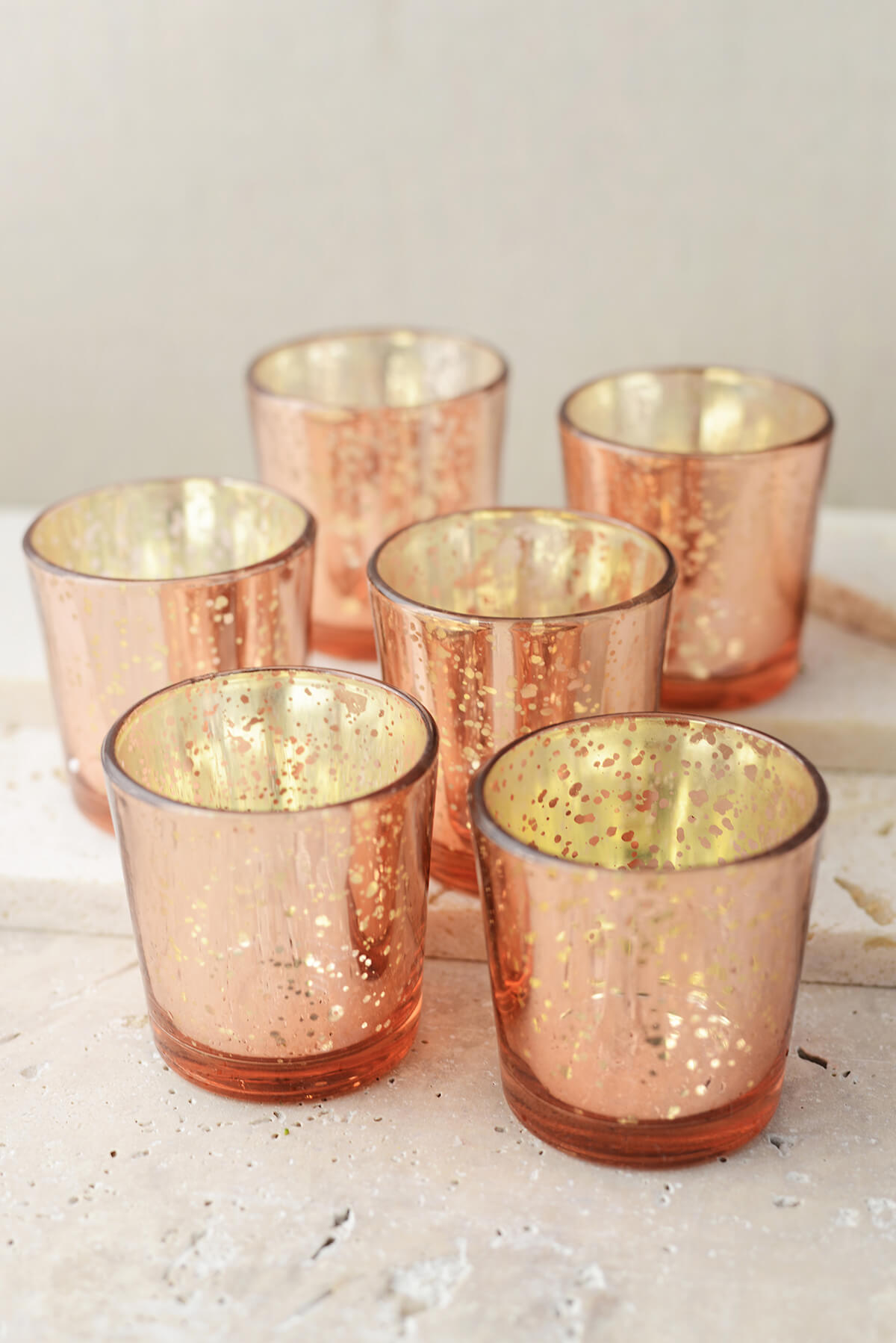 Copper Rose Gold Mercury Votives What S The Occasion